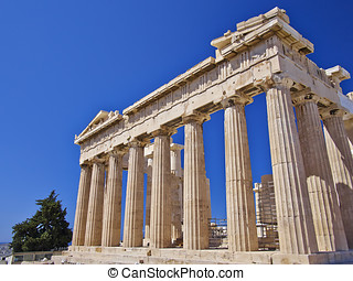 Parthenon temple, Acropolis of Athens - Parthenon, ancient...
