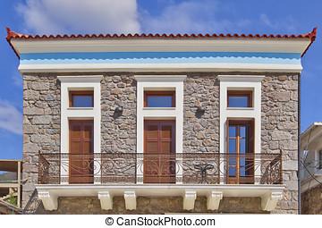 neoclassical house facade