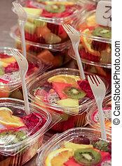 Fresh fruits on the market