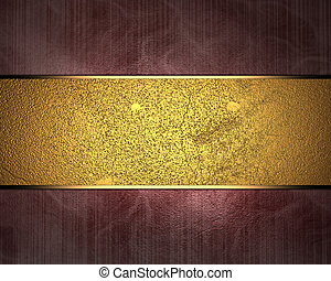Red background with gold ribbon.. Design template