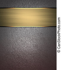 metal texture background with gold nameplate