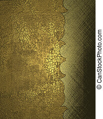Old gold background with cutout. Design template