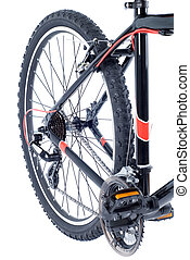 bicycle - mountain bike cassette on the wheel with chain of...