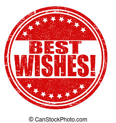 Best wishes stamp - Best wishes grunge rubber stamp on...