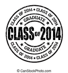 Class of 2014 stamp - Class of 2014 grunge rubber stamp on...