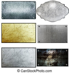 metal sign - old metal sign collections isolated on white