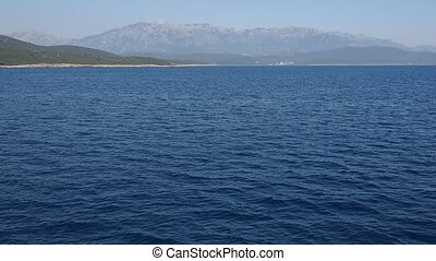 Montenegro seascape - magnificent view to the mountains of...
