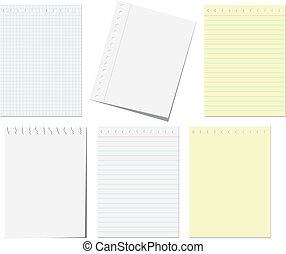 Pages of notebook - Isolated pages of notebook on the white
