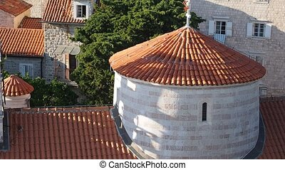 Budva Old city - view from top to the Budva old city with...