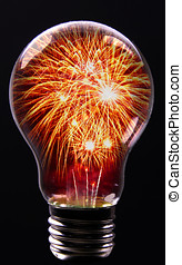 Creative Explosion as a fireworks display celebration...