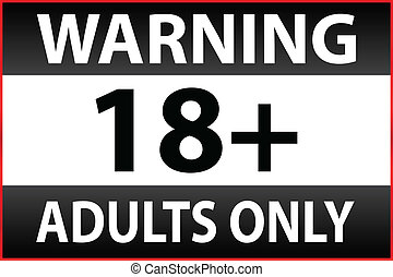 Warning Only Adults Parental Control Sticker Vector...