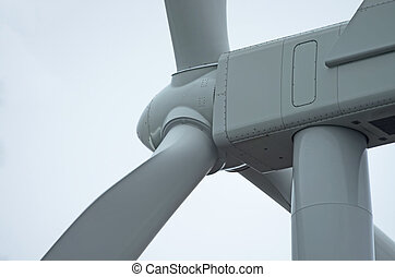 Wind Turbine - Detail of the top of a wind turbine located...