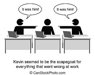 Blame - Kevin got the blame for everything cartoon isolated...