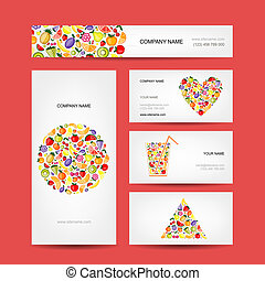 Business cards design, fruit collection