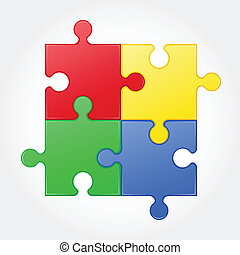 square puzzle vector illustration isolated on white...