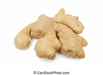Ginger isolated on the white background