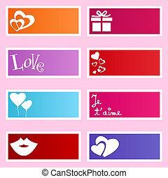 Love labels - Cute and colorful labels with love related...