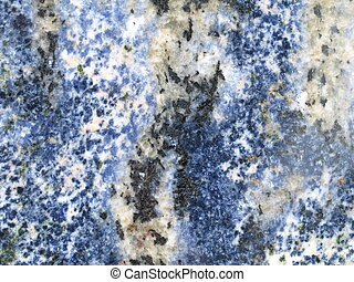 Blue granite slab - Closeup of a blue granite slab,...