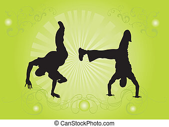 Capoeira dancers - Illustration of capoeira dancers