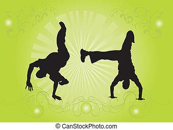 Capoeira dancers - Illustration of capoeira dancers