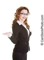 婦女, 事務, 空間, 顯示, 模仿, 愉快
