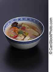 dulce, agrio, chino, sopa