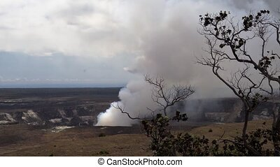 Kilauea Volcano, Timelapse, Hawaii - Time Lapse shot near...
