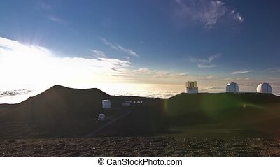 Mauna Kea Observatory Sunset - Sunset shot near the...