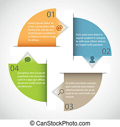 Circle arrow template - Circle arrow multicolor infographic...