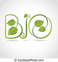 Bio background - Green leaf Bio background