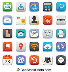 Website icon set - Website and internet service icon set for...