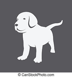 Vector image of an Labrador puppies