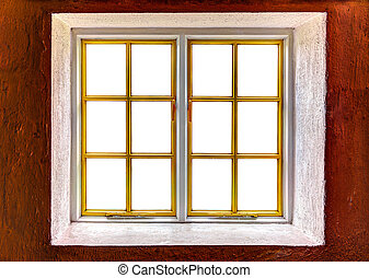 Window frame with cut out windows to be used as template