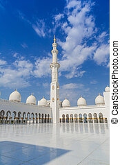 Abu Dhabi Sheikh Zayed White Mosque - ABU DHABI, UAE - JUNE...