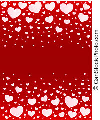 Valentine card hearts vector background - Valentine card...