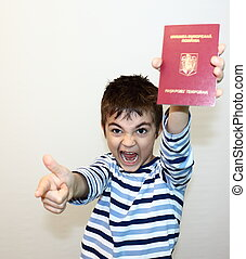 Romanian passport - Child shows the new Romanian passport