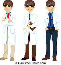 Professional Doctor Posing - Young professional male doctor...