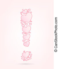 Font of hearts vector illustration