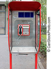 Public payphone - Retro public payphone outside on the...