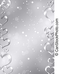 Abstract frame with hearts