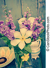 Pretty Spring flowers, still life