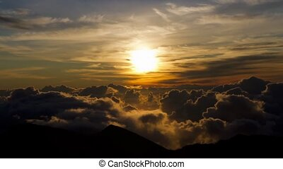 Sunrise Haleakala, Timelapse, Maui - Shot early in the...