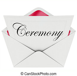 Ceremony Party Commemoration Event Invitation Envelope -...
