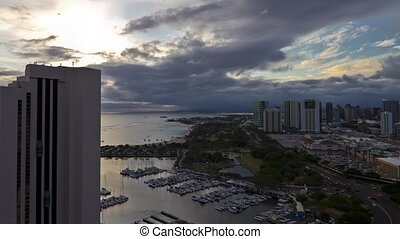 City View, Timelapse, Honolulu Oahu - Shot in Honolulu,...