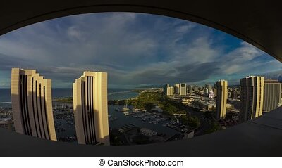City View, Time lapse, Honolulu - Shot in Honolulu, Oahu,...