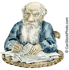 Caricature portrait of Leo Tolstoy