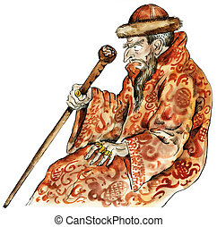 Tsar Ivan the Terrible caricature portrait