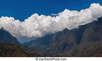 Cloud Timelapse at La Reunion - Timelapse showing nice cloud...