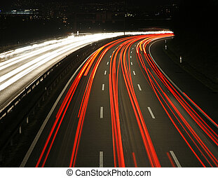 Highway at Night - Highway at night, Berne, Switzerland