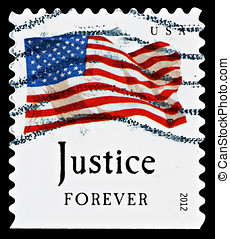 United States Flag Postage Stamp - UNITED STATES - CIRCA...